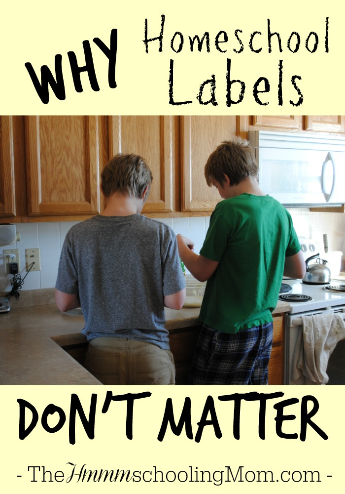 The Two Reasons Homeschool Labels Don't Matter