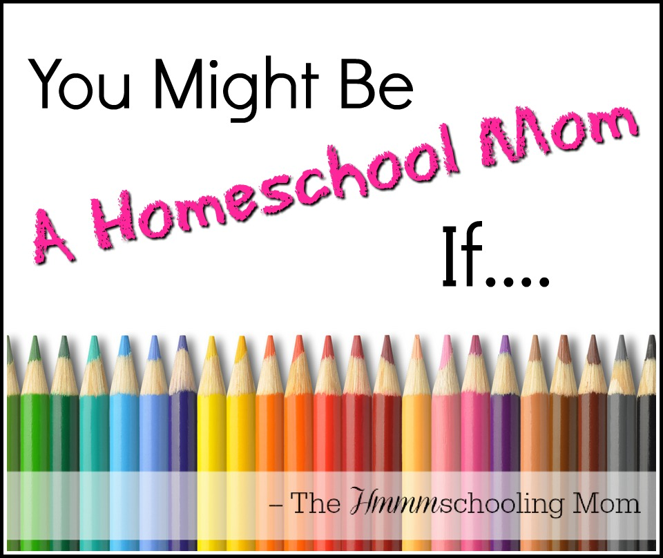 You Might Be A Homeschool Mom If... - The Hmmmschooling Mom