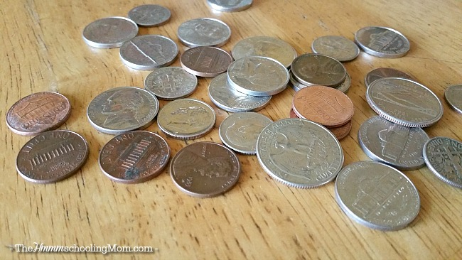 Teach your kids about money by playing the spare change game - The Hmmmschooling Mom