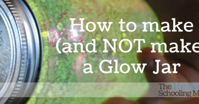 Pinterest Bustin': Glow-in-the-dark jars