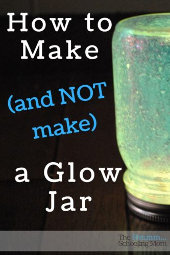 We've tested some pins and done some tests. Here is (from our experience) the best way to make (and not make) a glow jar.