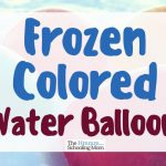 Frozen Colored Water Balloons: Does it Work?