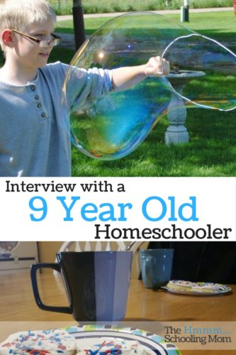 When you want to know what kids think about homeschooling...just ask them! I present an unedited interview with my nine year old about his life as an always been homeschooler. (Giggle Alert!) - The Hmmmschooling Mom
