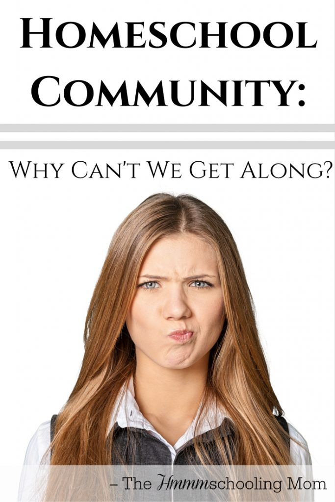 Homeschool Community: Why Can't We Get Along? - The Hmmmschooling Mom