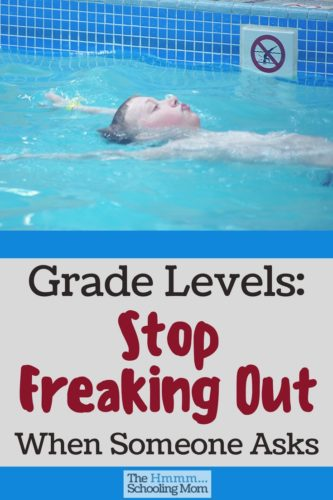 Let's stop freaking out when we're asked about grade levels, shall we? Sometimes they matter and sometimes they don't. Here's how to know the difference.