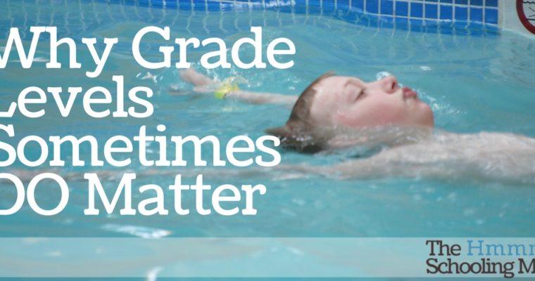 Why Grade Levels Sometimes Do Matter