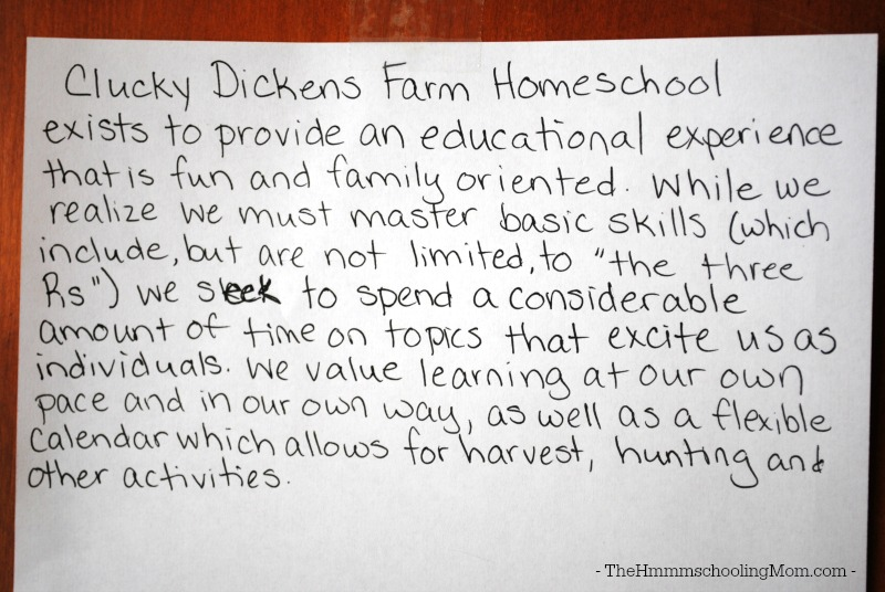 As a homeschooling parent, it's important to know why you're doing what you're doing. It's time to make a homeschool mission statement!