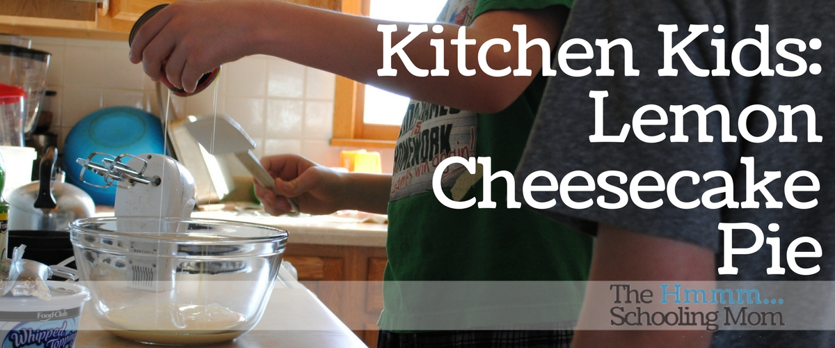 Kitchen Kids: Lemon Cheesecake Pie