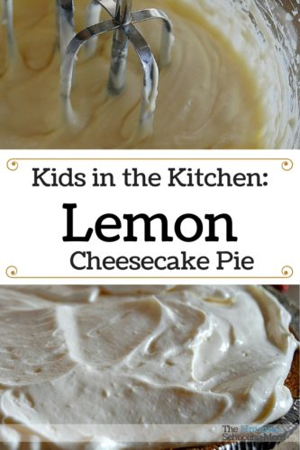 Looking for an easy, yummy recipe your kids can tackle and feel fancy schmancy at the same time? Try Lemon Cheesecake Pie!