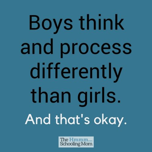 Boys think differently than girls -- which is important to understand if you're the mom of boys!