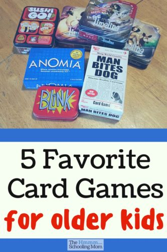 Is it possible that a game is quick, portable, and fun for both kids and parents? Here are our five favorite card games we play with 2 teens and 2 adults.