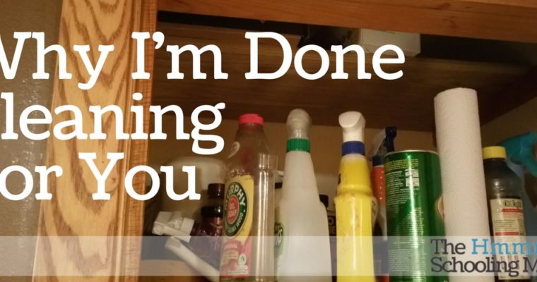 I'm Done Cleaning My House For You