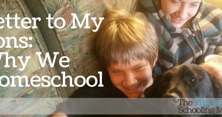 Letter to My Sons: Why We Homeschool