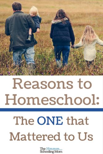 Dear sons, we've probably never talked about our reasons to homeschool you. So know this: the main reason why was actually pretty simple.