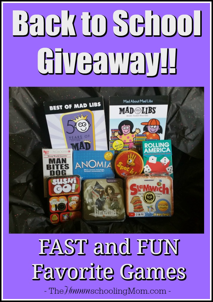 Fast and Fun Favorite Games: Back to School Giveaway