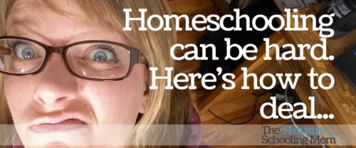 """Homeschooling can be hard. Really hard. Here is one of my favorite suggestions for how to """"deal"""". Hopefully it will help you, too."""