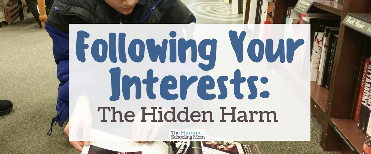 Following Your Interests: The Hidden Harm