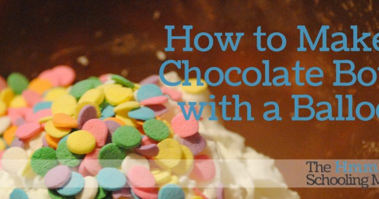 How to Make a Chocolate Bowl with a Balloon