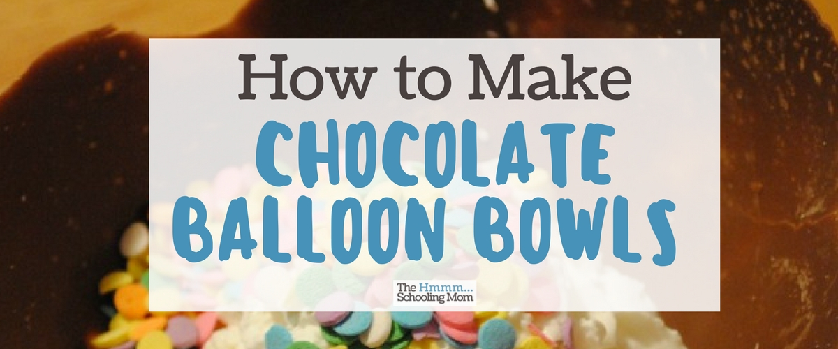 How to Make Chocolate Balloon Bowls