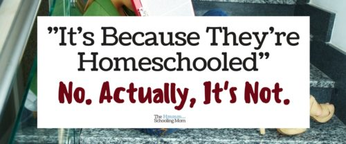 Is your kid shy? Overly chatty? Somehow doesn't do well in a group? It's obviously because they're homeschooled, right? No. It's not that at all.