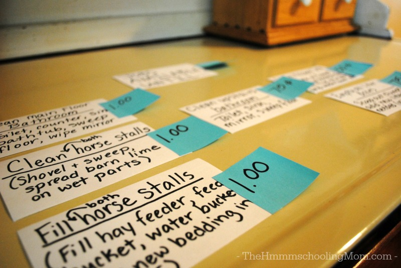 Check out this great way to set up an extra chores, extra cash system that works for both you AND your kids!