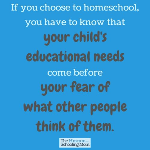 Of all the things that can get in the way of an awesome homeschool experience, homeschool pride is one that can mess it up the worst.