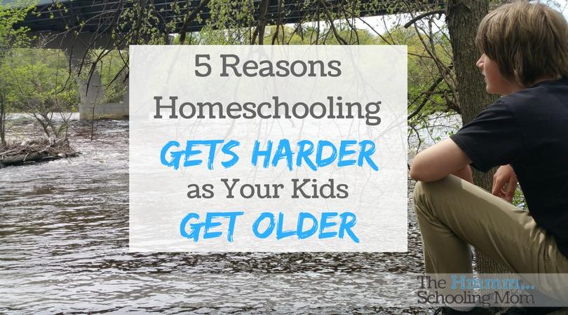 5 Reasons Homeschooling Gets Harder As Your Kids Get Older
