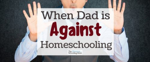 That thing where dad is against homeschooling, but you're completely in love with the idea. Here are a few options for how to deal with the situation.