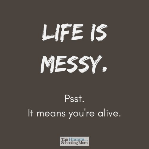 It's not a mess. It's a home that is lived in. A home where love and life happen and there's not always time to clean up afterwards.