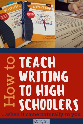 How in the world do you teach writing to high schoolers who struggle...when writing comes naturally to you? Here are a few tips as well as a little bit about my new favorite thing.