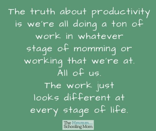 The truth about productivity -- for y'all who are frustrated by the things you want to do and your inability to do them all right now.