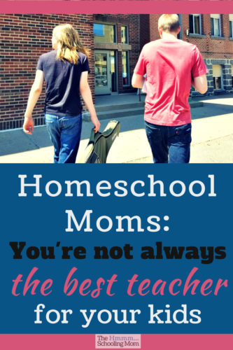 Homeschool mom, you are an amazing teacher, but you're not always the best teacher for your kid. Let me explain why your kid needs to learn from other people, too.