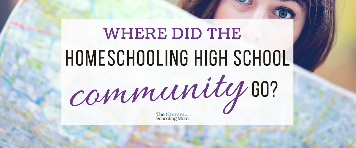 Where did the homeschooling high school community go?