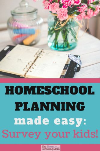 Homeschool planning is easy when you survey your kids about their plans, wishes, and interests. Read on for examples of the best questions to ask your kids to help you plan a great homeschool year!