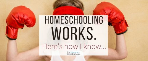 Wondering how I know that homeschooling works? Here's our experience—along with a little bit of playing devil's advocate—which *could* help you feel more relaxed about your decision to homeschool.